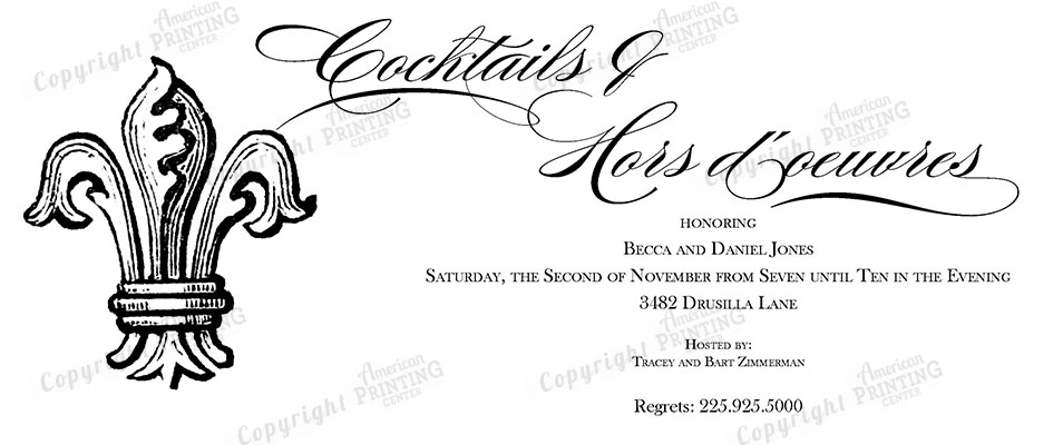 Theme Party Invitations American Printing Center